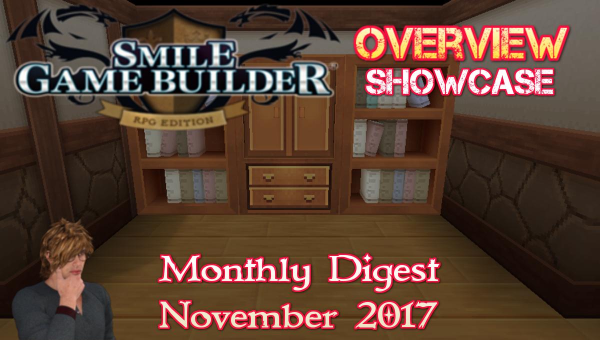 Smile Game Builder Monthly Digest November 2017
