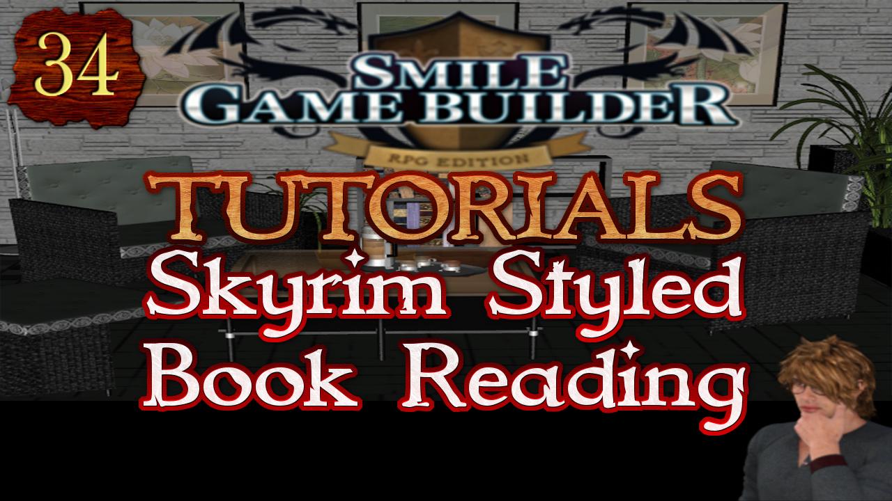 Smile Game Builder Tutorial 034: Skyrim Styled Book Reading