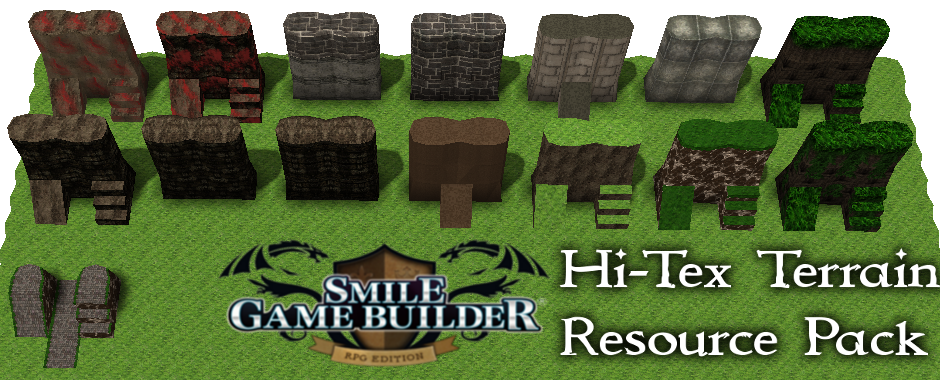 Hi-Tex Terrain Resource Pack 1 – Smile Game Builder – Upcoming 2017