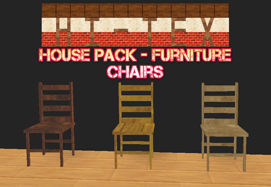 SMILE GAME BUILDER Hi-Tex House Pack – Furniture: Chairs