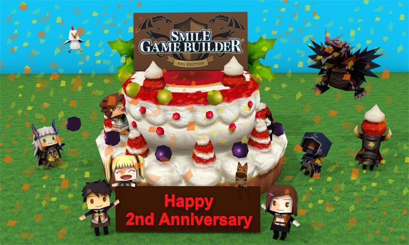 Happy Second Birthday, Smile Game Builder!