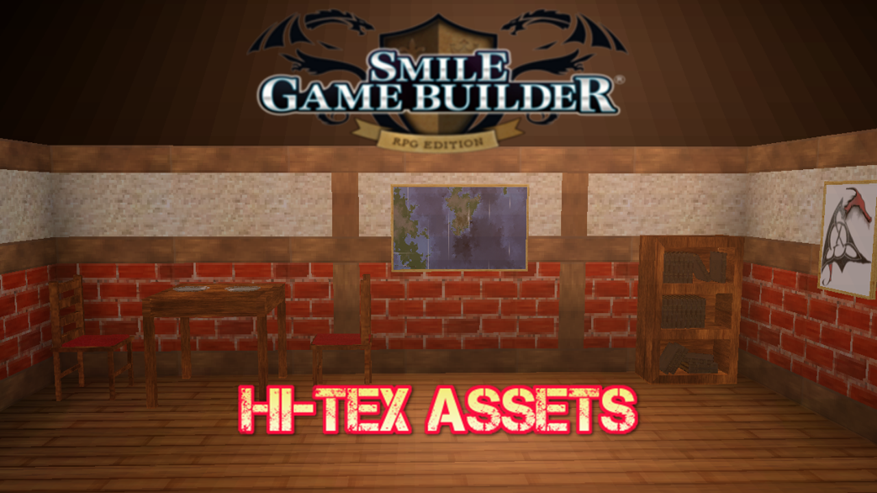 Hi-Tex Furniture Models: Bookshelf and Books – Smile Game Builder