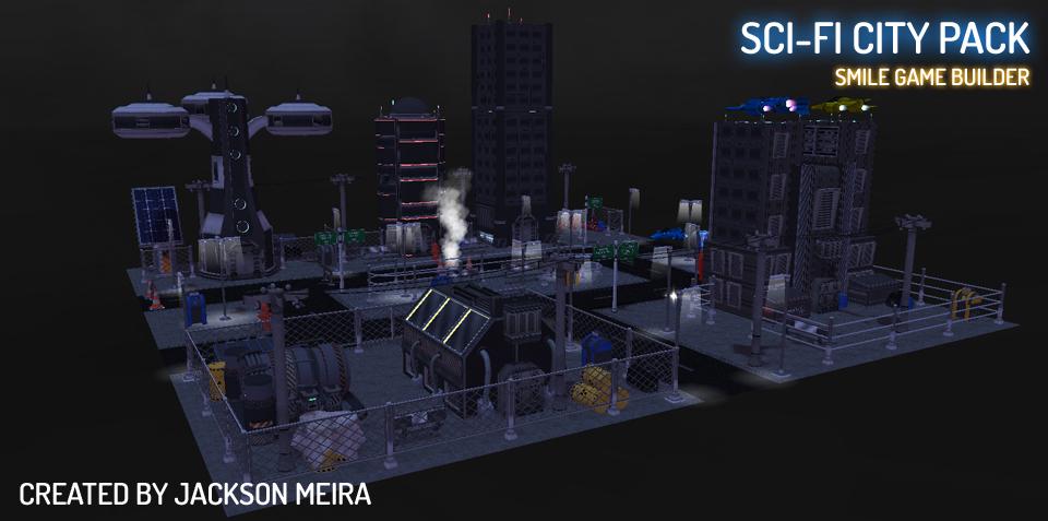 Jackson Meira's Sci-Fi City Pack SMILE GAME BUILDER